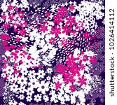 abstract floral seamless...   Shutterstock . vector #1026414112