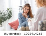 female psychologyst therapy... | Shutterstock . vector #1026414268