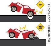 an image of a car hitting bump... | Shutterstock .eps vector #1026414745