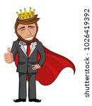 businessman character smiling... | Shutterstock .eps vector #1026419392