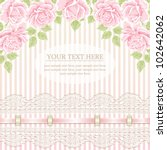 Stock vector vintage background with roses 102642062