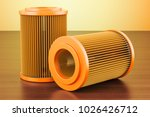 set of car oil filters on the... | Shutterstock . vector #1026426712