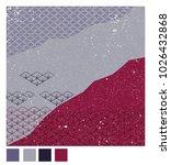 japanese pattern background... | Shutterstock .eps vector #1026432868