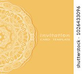 invitation or card template... | Shutterstock .eps vector #1026433096
