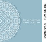invitation or card template... | Shutterstock .eps vector #1026433102