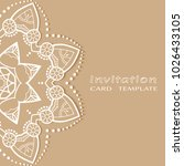 invitation or card template... | Shutterstock .eps vector #1026433105