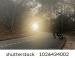 little red bicycle standing on...   Shutterstock . vector #1026434002