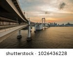 sunset view of tokyo bay from... | Shutterstock . vector #1026436228