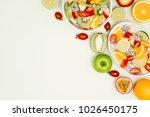 bowl of healthy fresh fruit...   Shutterstock . vector #1026450175