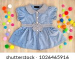 blue dress for the girl on a... | Shutterstock . vector #1026465916