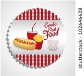 fast food combo with a hot dog  ... | Shutterstock .eps vector #102646628