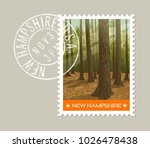 new hampshire postage stamp...   Shutterstock .eps vector #1026478438