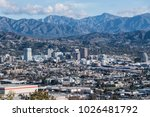 downtown glendale with the san... | Shutterstock . vector #1026481792