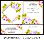 romantic invitation. wedding ...   Shutterstock . vector #1026483475