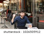 dissatisfied man losing at... | Shutterstock . vector #1026505912