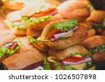 beautifully decorated catering... | Shutterstock . vector #1026507898