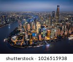 aerial shanghai lujiazui   Shutterstock . vector #1026515938