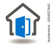 house open door icon vector.... | Shutterstock .eps vector #1026527662