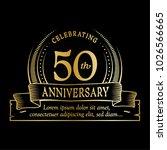 50th anniversary design... | Shutterstock .eps vector #1026566665