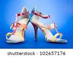 Stylish Woman's Opened Shoe On...