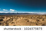 view across the desert and... | Shutterstock . vector #1026575875