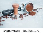 coffee making equipment with... | Shutterstock . vector #1026583672