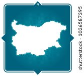 simple outline map of bulgaria... | Shutterstock .eps vector #1026587395