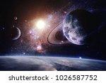 interstellar   elements of this ... | Shutterstock . vector #1026587752