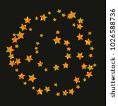 colorful star falling pattern.... | Shutterstock .eps vector #1026588736