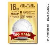 volleyball poster vector....   Shutterstock .eps vector #1026603022