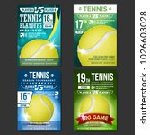 tennis poster set vector.... | Shutterstock .eps vector #1026603028