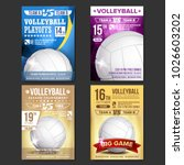 volleyball poster set vector.... | Shutterstock .eps vector #1026603202