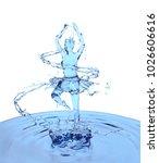 liquid splash of blue fresh... | Shutterstock . vector #1026606616