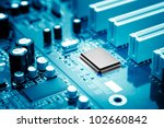 close up of electronic circuit... | Shutterstock . vector #102660842