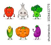 cartoon funny vegetable... | Shutterstock .eps vector #1026612775