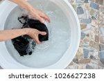 Woman Hands Washing Of Bra In...