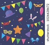 carnaval background. carnaval... | Shutterstock .eps vector #1026628672