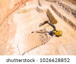 aerial view of a working... | Shutterstock . vector #1026628852