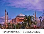 hagia sophia mosque in...   Shutterstock . vector #1026629332