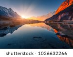beautiful landscape with high... | Shutterstock . vector #1026632266