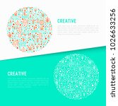 creative concept in circle with ...   Shutterstock .eps vector #1026633256