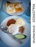 popular malaysian food is...   Shutterstock . vector #1026637906