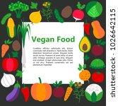 vegan food concept. vector... | Shutterstock .eps vector #1026642115