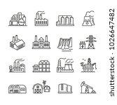 industrial factory buildings... | Shutterstock .eps vector #1026647482