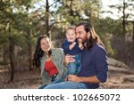 young family enjoying a day in... | Shutterstock . vector #102665072