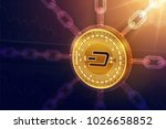 dash. crypto currency. block... | Shutterstock .eps vector #1026658852