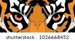 animal eye vector tiger | Shutterstock .eps vector #1026668452