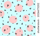 repeated circles and triangles... | Shutterstock .eps vector #1026675202