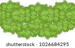 vector seamless border pattern  ... | Shutterstock .eps vector #1026684295
