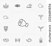 meat and seafood line icon set | Shutterstock .eps vector #1026684856